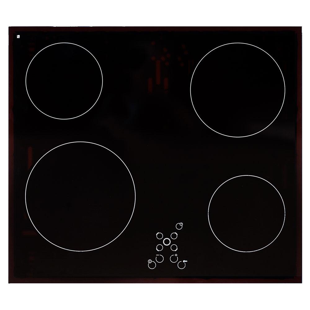 Exquisit Glaskeramikkochfeld Autark rahmenlos Herd Touch Control Timer EKC 601-8