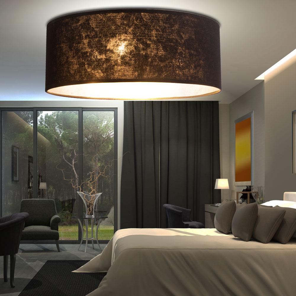 luxus led decken leuchte textil schirm strahler. Black Bedroom Furniture Sets. Home Design Ideas