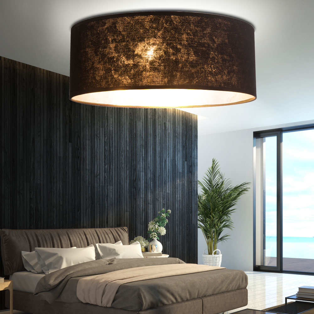 luxus led decken leuchte textil schirm strahler schlafzimmer flur lampe eek a ebay. Black Bedroom Furniture Sets. Home Design Ideas