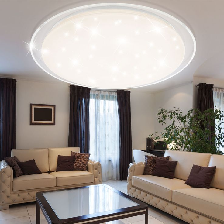 LED ceiling lamp living room remote control stars sky effect dimmer daylight Globo 41310-60 – Bild 6