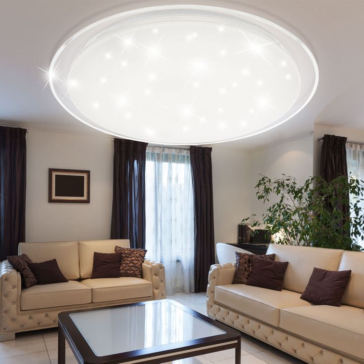 LED ceiling lamp living room remote control stars sky effect dimmer daylight Globo 41310-60 – Bild 5