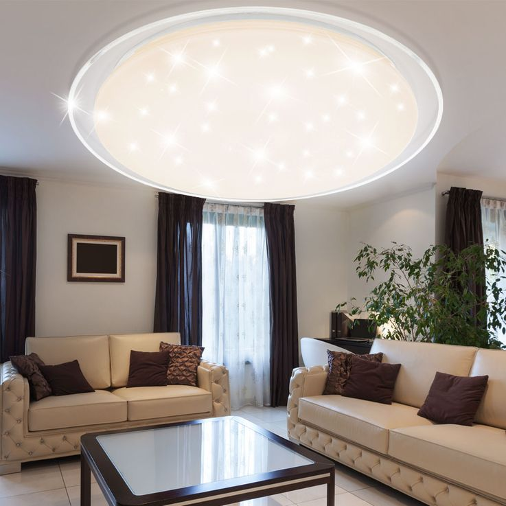 LED ceiling lamp living room remote control stars sky effect dimmer daylight Globo 41310-60 – Bild 4