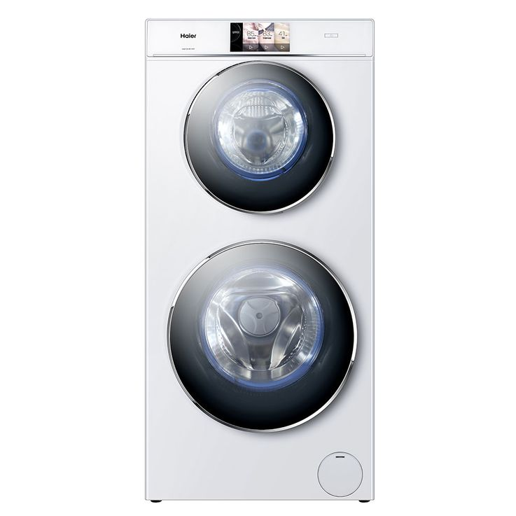 DUO-Waschmaschine 4+8kg 7 Zoll TFT Touch Display A+++(-30%) HAIER HW120-B1558 – Bild 1