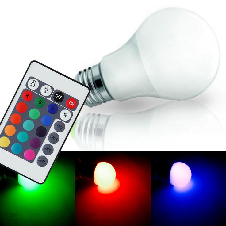 RGB LED Pendellampe with glass screen for your living space – Bild 7