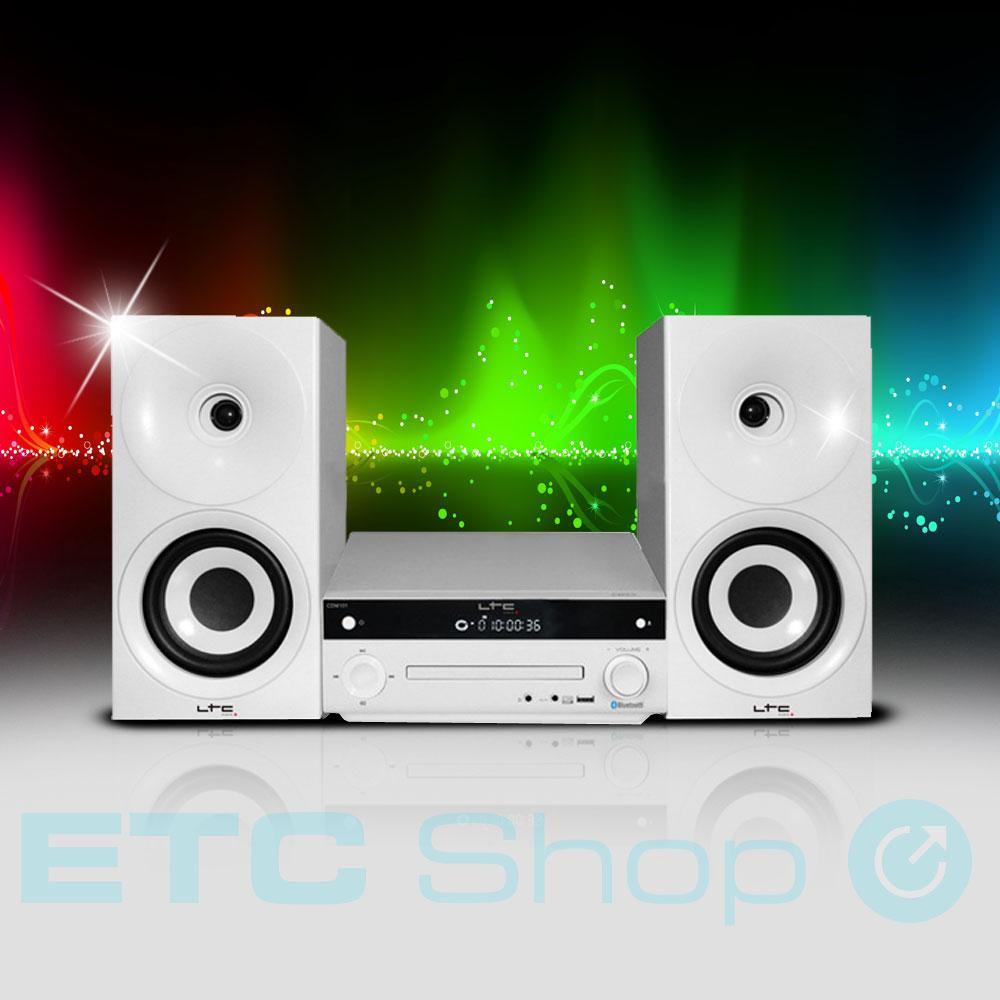 stereo anlage cd usb aux bluetooth fernbedienung radio 2 weg lautsprecher boxen ebay. Black Bedroom Furniture Sets. Home Design Ideas