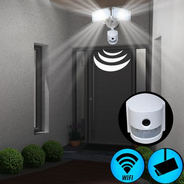 LED Outdoor Wall Lamp WIFI Camera SD Spot Security APP Sensor IP44 Floodlight EEK A V-TAC 5745 – Bild 3