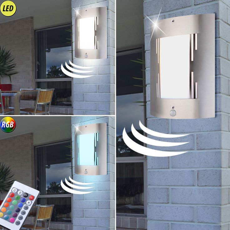 RGB LED exterior wall lamps with and without motion sensor – Bild 9