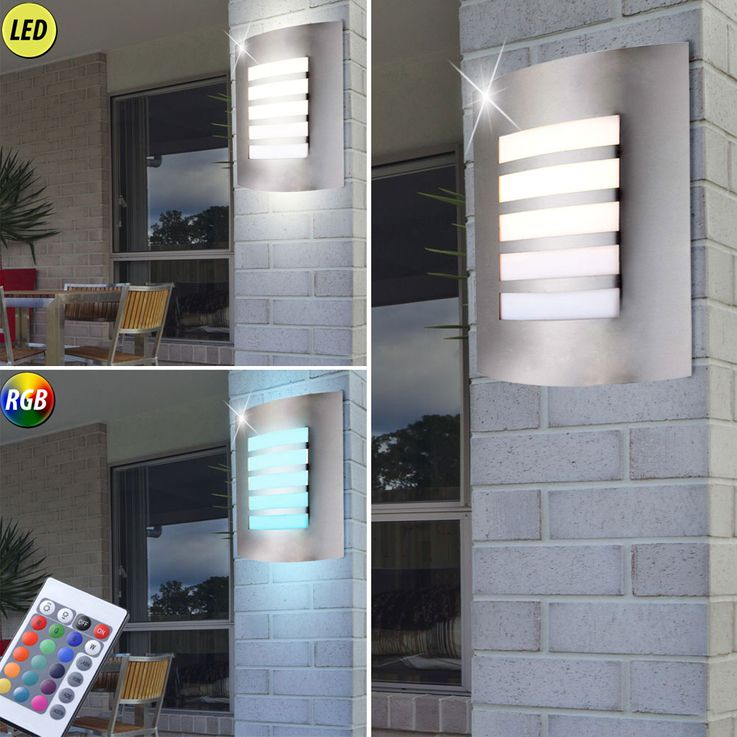 RGB LED exterior wall lamps with and without motion sensor – Bild 10
