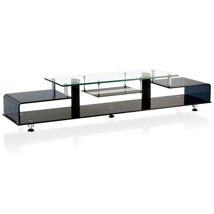 Luxus TV Regal Chrom Lowboard Wohn Zimmer Sideboard Möbel Sicherheitsglas Fernseh Tisch BHP B153018 – Bild 1