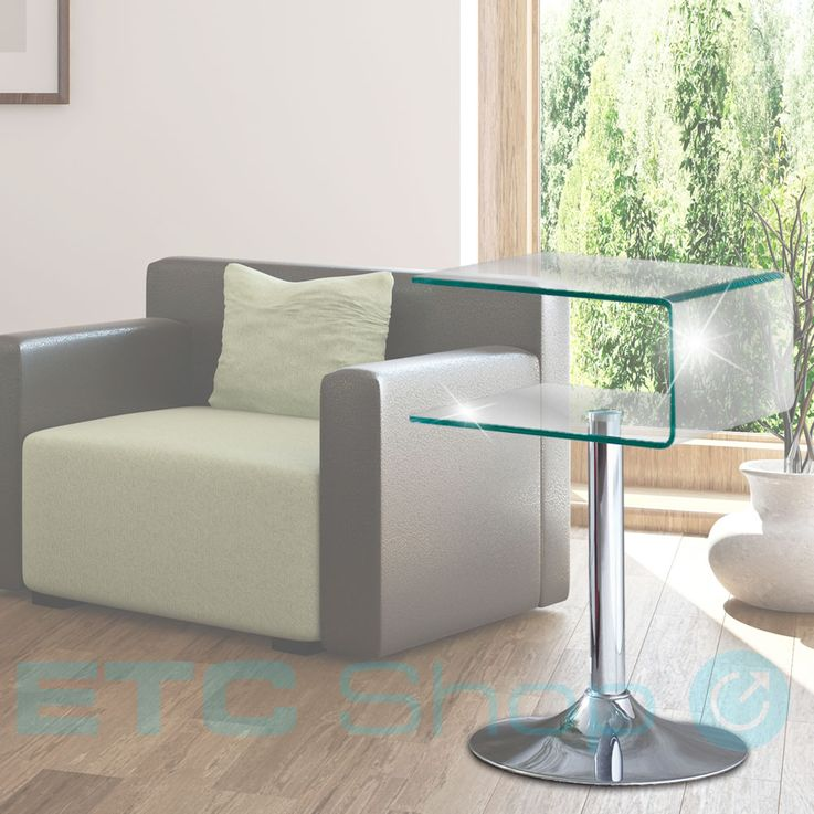 Luxury glass table top living room room storage storage space storage corridor furniture chrome-plated – Bild 2