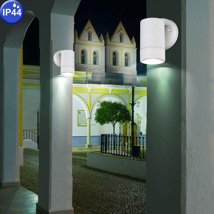 Outdoor luminaire white downlight wall lamp IP44 facades lighting Globo 32004-1 – Bild 5