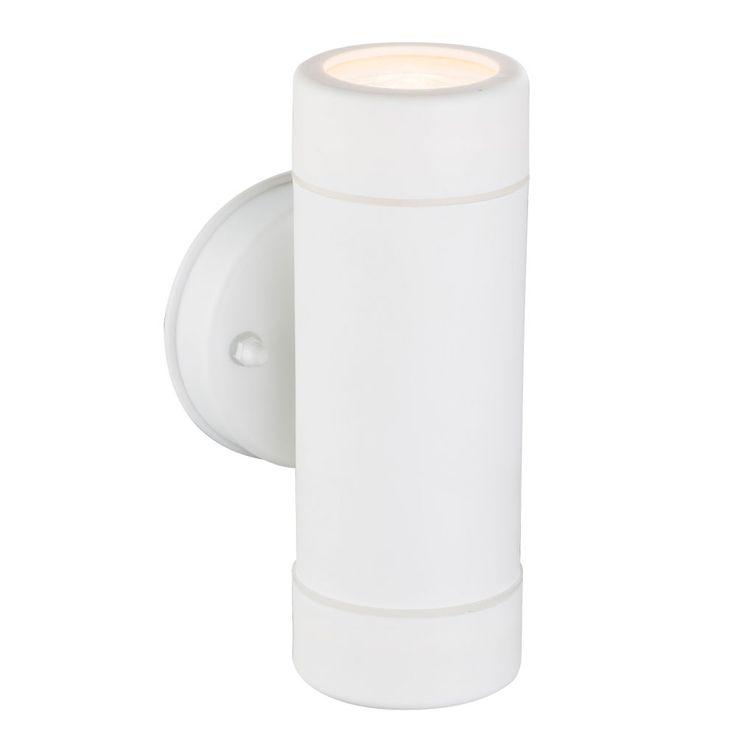 Wall lamp outdoor spotlight up down lighting white GU10 balcony luminaire round Globo 32004-2 – Bild 1