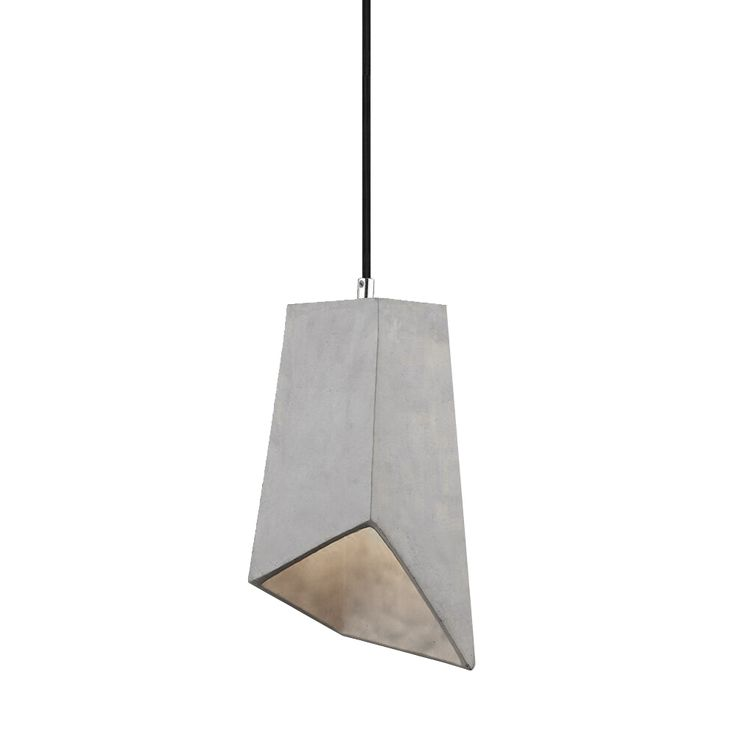 Hanging lamp Bedroom Ceiling Pendant light Concrete gray 1-flg E27 Vtac 3850 – Bild 1