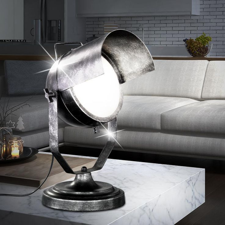 Lampe de table en métal robuste Spotlights Projecteurs projecteurs pivotants TRIO 504200188 – Bild 2