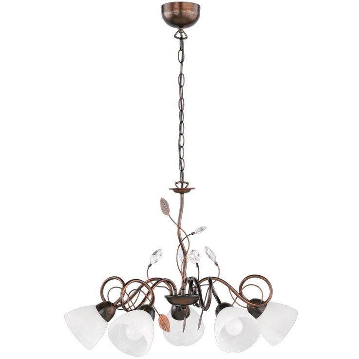 Maison de campagne lampe suspension lampe suspension en verre lampe suspension ancienne rouillée TRIO 110700528 – Bild 1