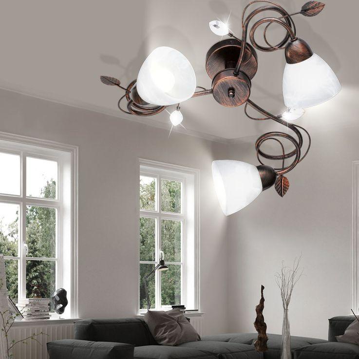Deckenleuchte mit Lampenschirmen aus Alabasterglas TRADITIO – Bild 4