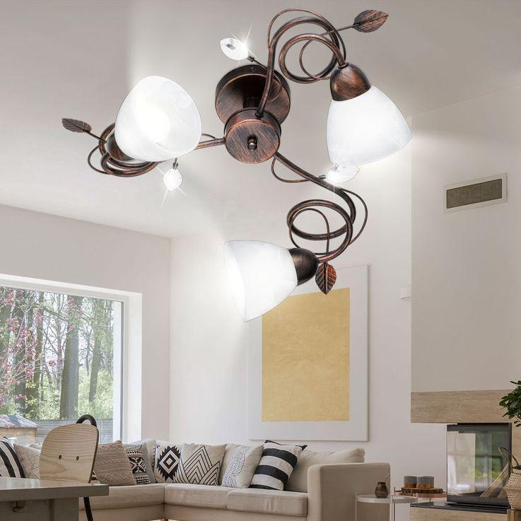 Deckenleuchte mit Lampenschirmen aus Alabasterglas TRADITIO – Bild 5