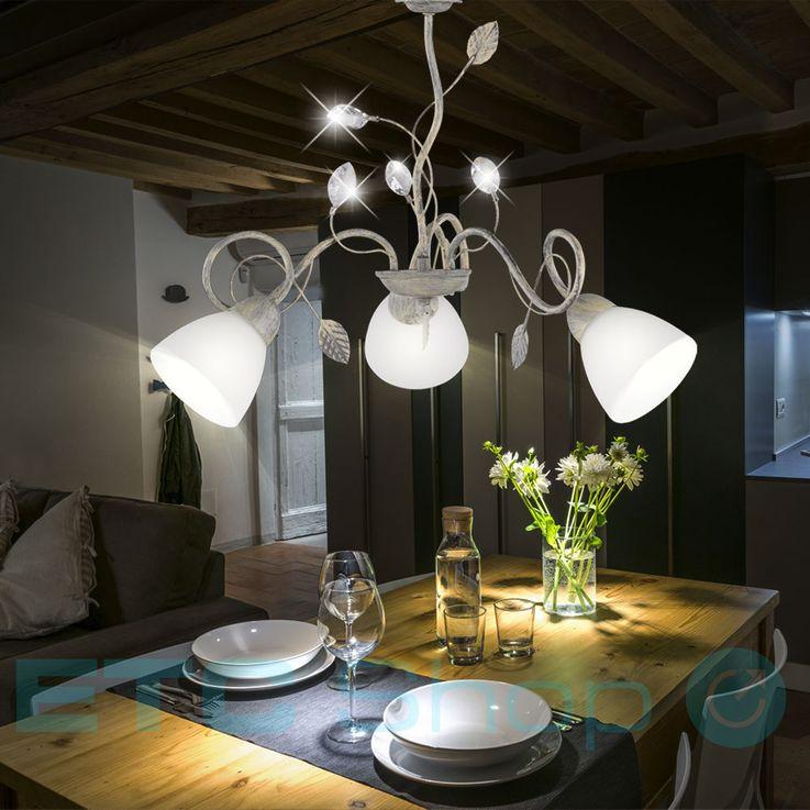 Luminaires suspendus au plafond Éclairage de la salle à manger Maison à la maison Style pendentif Lustre gris Trio antique 110700361 – Bild 3