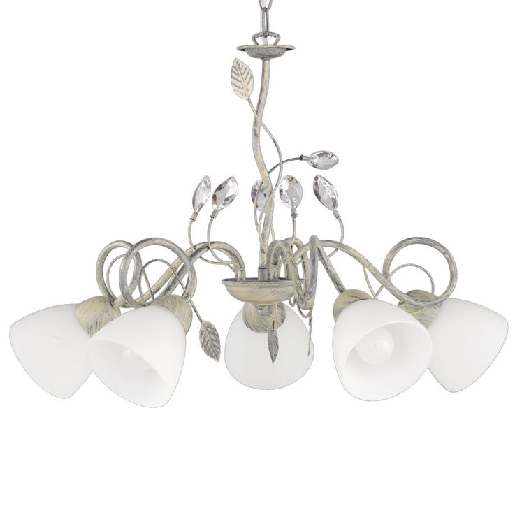 Lampe suspension en plafond antique radiateur en verre gris tendrils salon lampe suspension TRIO 110700561 – Bild 4
