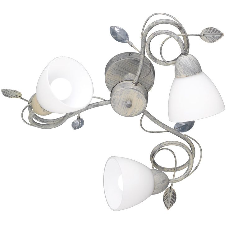 Country House Style Ceiling Light Lighting Leaves Tendrils Glass White E14  Spot Spotlight TRIO 600700361 U2013
