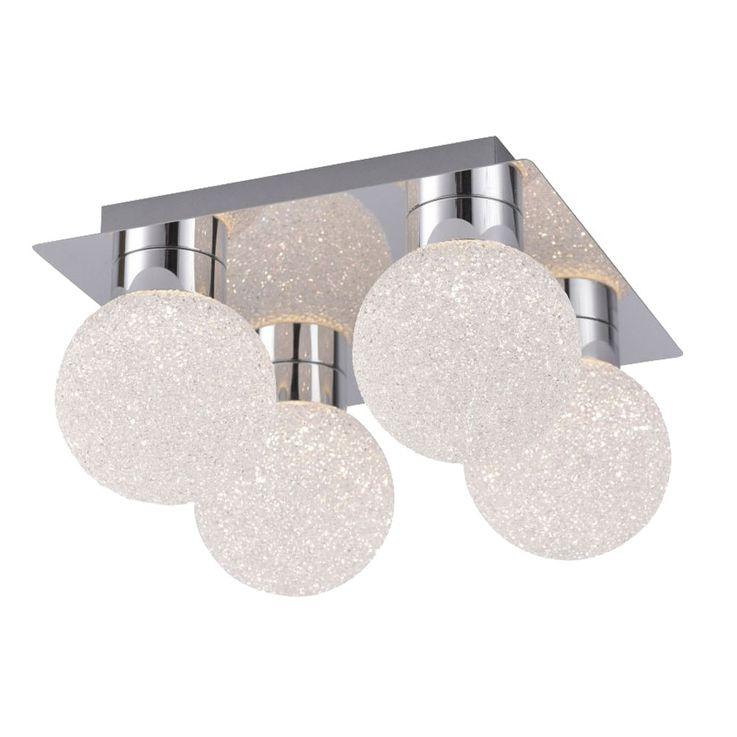 RGB LED Decken Leuchte Wohnraum Kugel Lampe Dimmbar FERNBEDIENUNG Leuchten Direkt 14550-17 – Bild 1