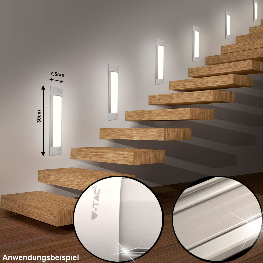 design led wand lampen decken leuchten treppenhaus stufen strahler flach eek a ebay. Black Bedroom Furniture Sets. Home Design Ideas