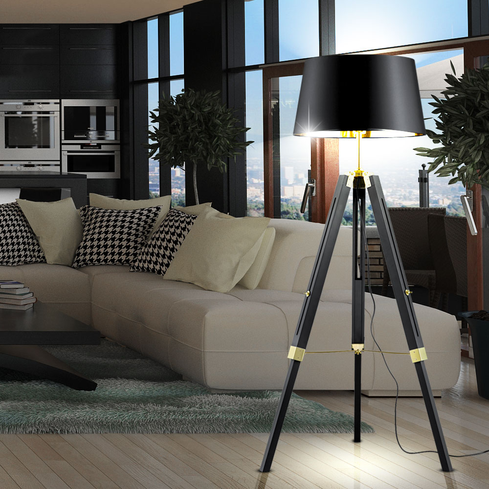 moderne rgb led stehleuchte f r das b ro aus naturholz gent. Black Bedroom Furniture Sets. Home Design Ideas