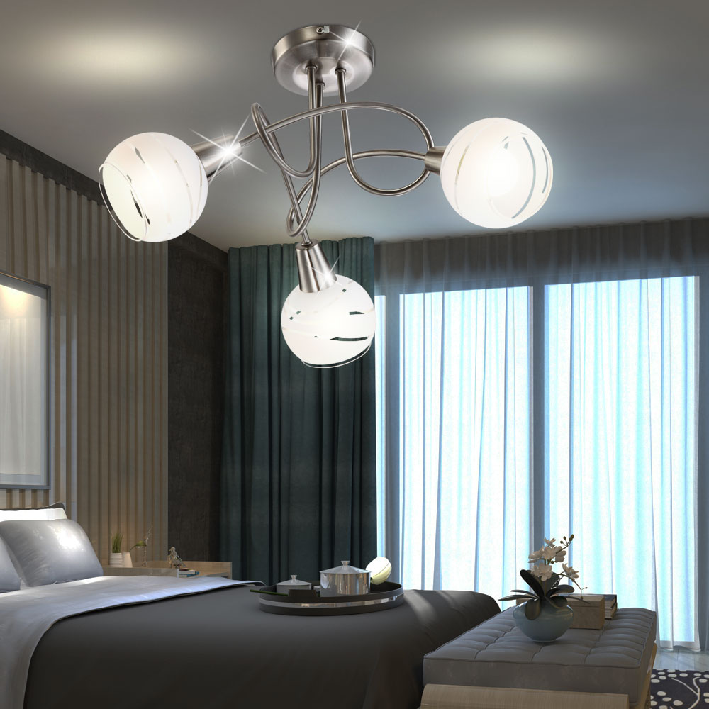 rgb led deckenlampe mit glas schirmen f r ihr wohnzimmer. Black Bedroom Furniture Sets. Home Design Ideas