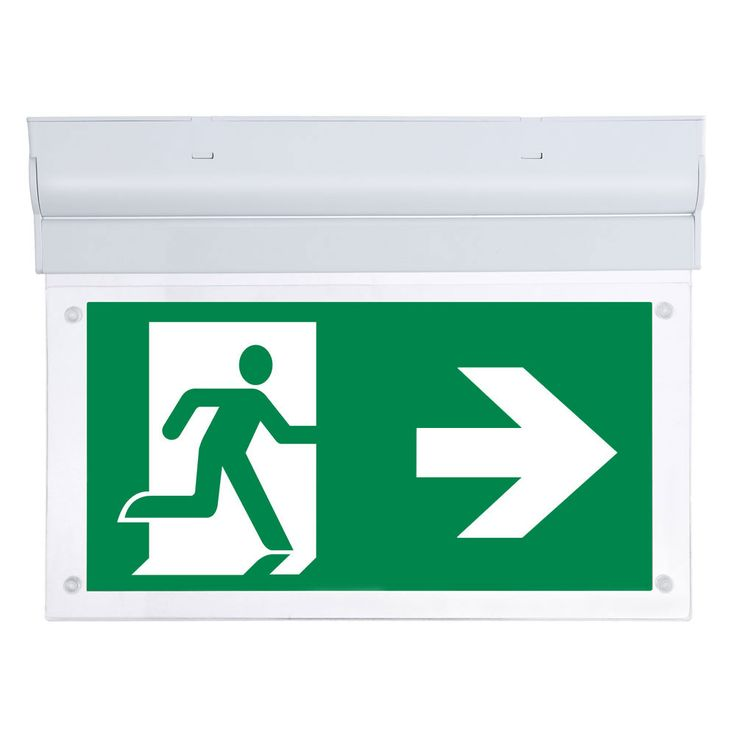 LED ceiling wall escape way lamp 3 hours battery emergency exit lighting signpost mobile V  -Tac 8312 – Bild 1