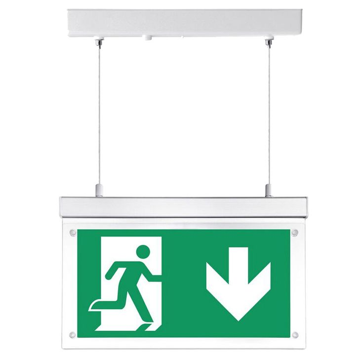 LED Not Fall Beleuchtung Hänge Schild rechts links unten Lager Hallen Flucht Weg Lampe V-Tac 8100 – Bild 1