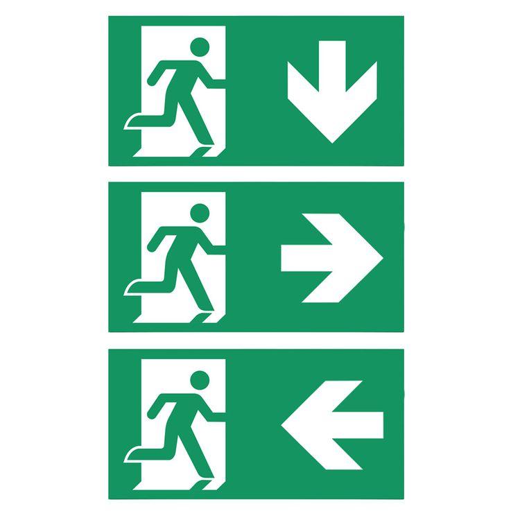 LED Not Fall Beleuchtung Hänge Schild rechts links unten Lager Hallen Flucht Weg Lampe V-Tac 8100 – Bild 4