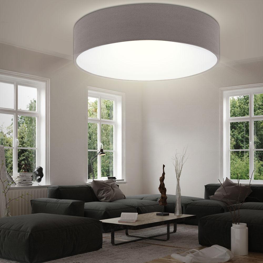 Decken strahler beleuchtung wohn ess zimmer stoff leuchte for Deckenleuchte e27 strahler