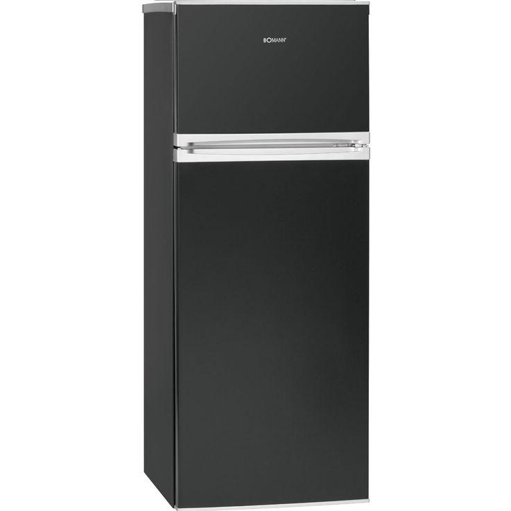 Doppeltür Kühlschrank Kühlfach LED-Licht 212 Liter A++ Bomann DT 349 weiß schwarz rot gelb silber gruen – Bild 6
