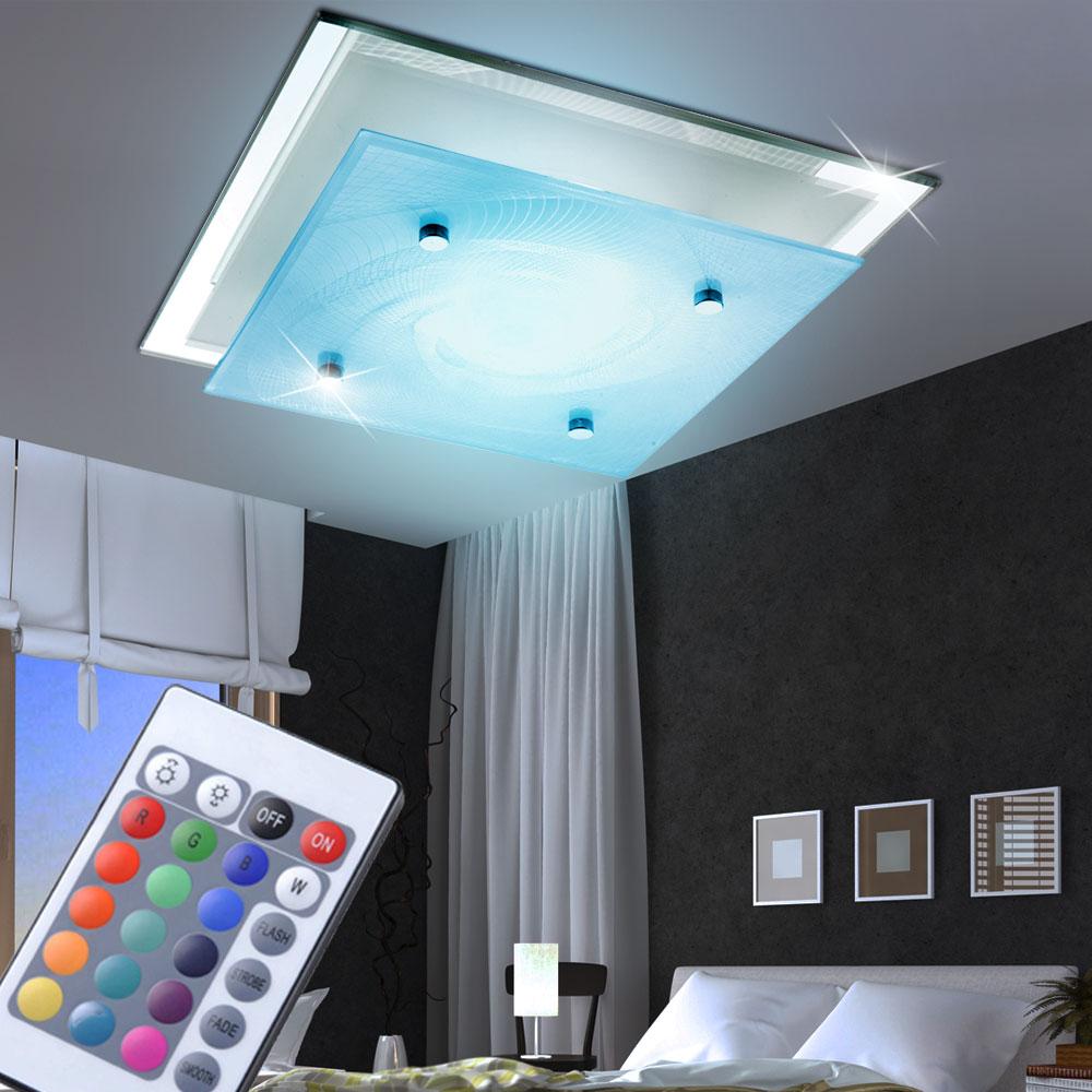 rgb led deckenlampe aus glas und chrom f r ihre vier w nde. Black Bedroom Furniture Sets. Home Design Ideas