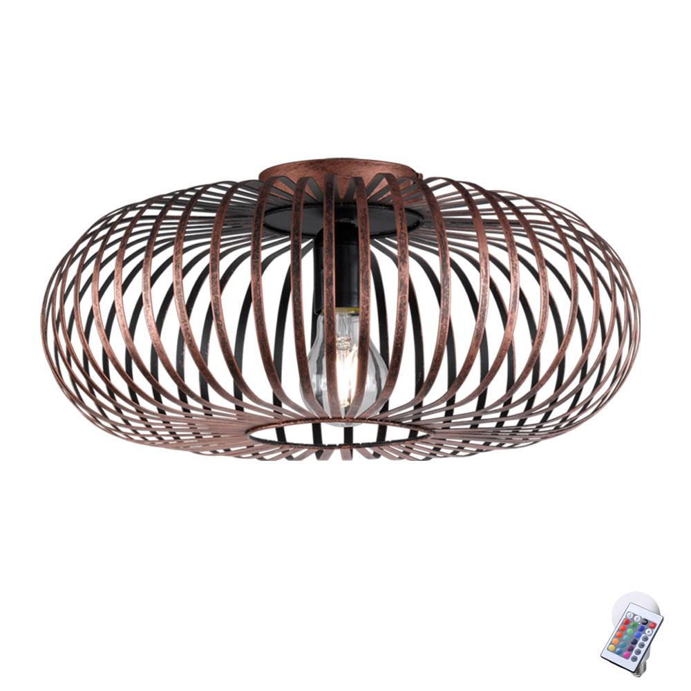 Rétro De Johann Rgb Télécommande Led Lampe Avec Plafond EIH9WD2