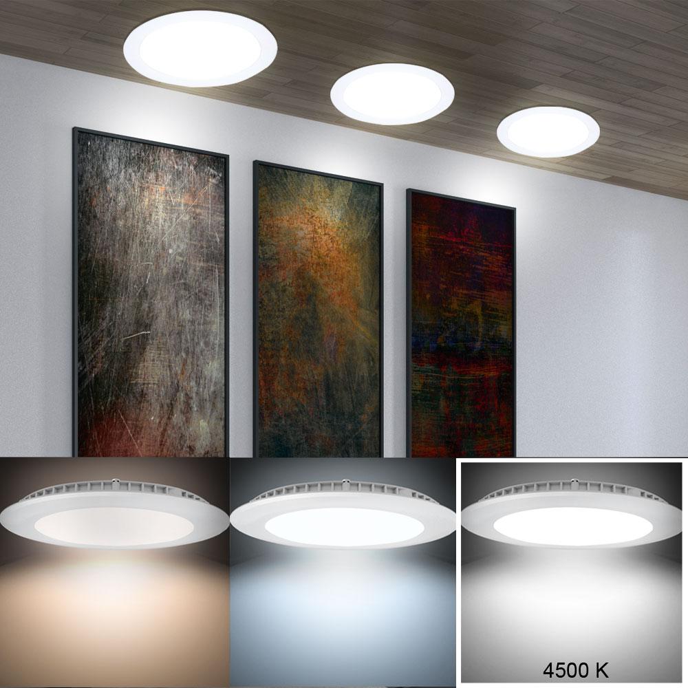 5er set led einbau strahler dielen lampen decken panel. Black Bedroom Furniture Sets. Home Design Ideas