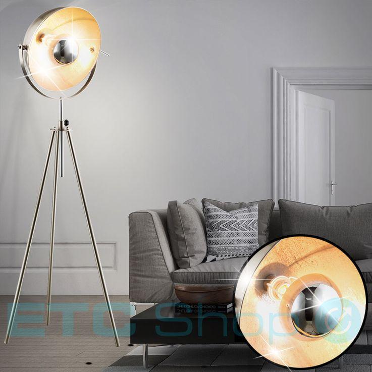 Steh Lampe Wohn Zimmer Schalter Lese Strahler höhenverstellbar Spot Leuchte schwenkbar Globo 58306 – Bild 3