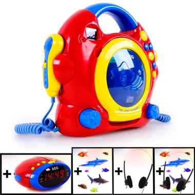 Kids Karaoke CD Player Girls Boys Sing a Long Plant Headphone Alarm Clock Animal animal Sticker colorful – Bild 1