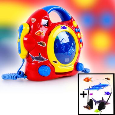 Kids Karaoke CD Player Girls Boys Sing a Long Plant Headphone Alarm Clock Animal animal Sticker colorful – Bild 6