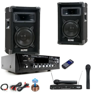 PA Party Musikanlage Boxen Verstärker USB MP3 SD Bluetooth Funkmikrofon DJ-Karaoke King – Bild 1