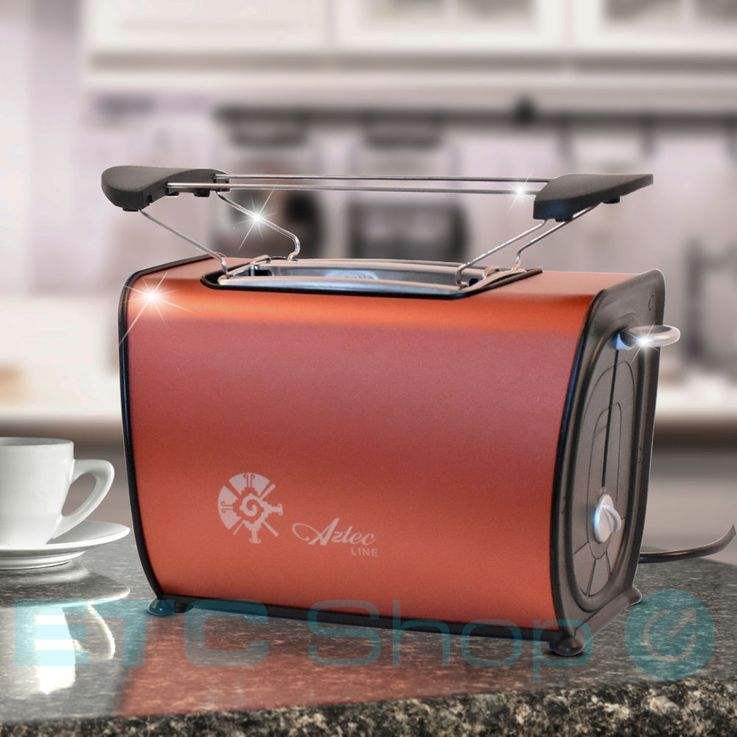 2 slices of toaster bread roll attachment 870 W roaster breakfast crumb tray copper – Bild 2