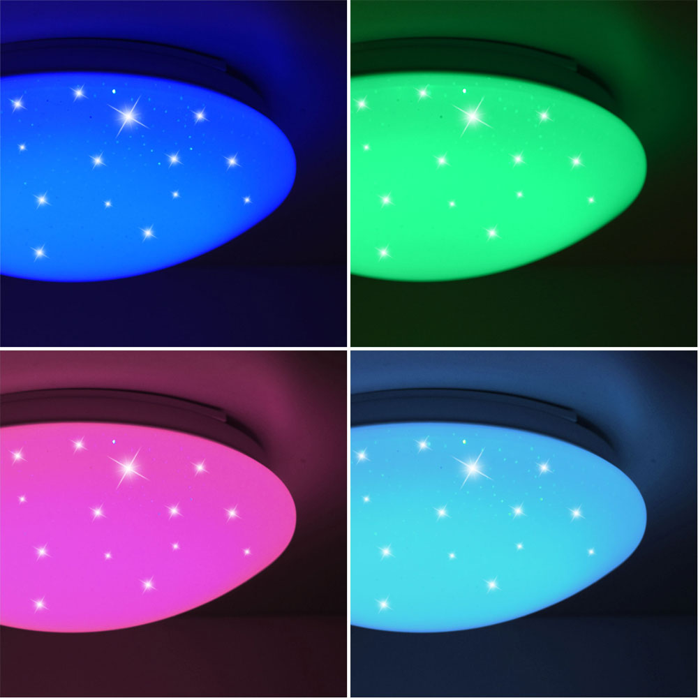 Rgb Led Ceiling Light With Stars Effect And Dimmer Meinelampe