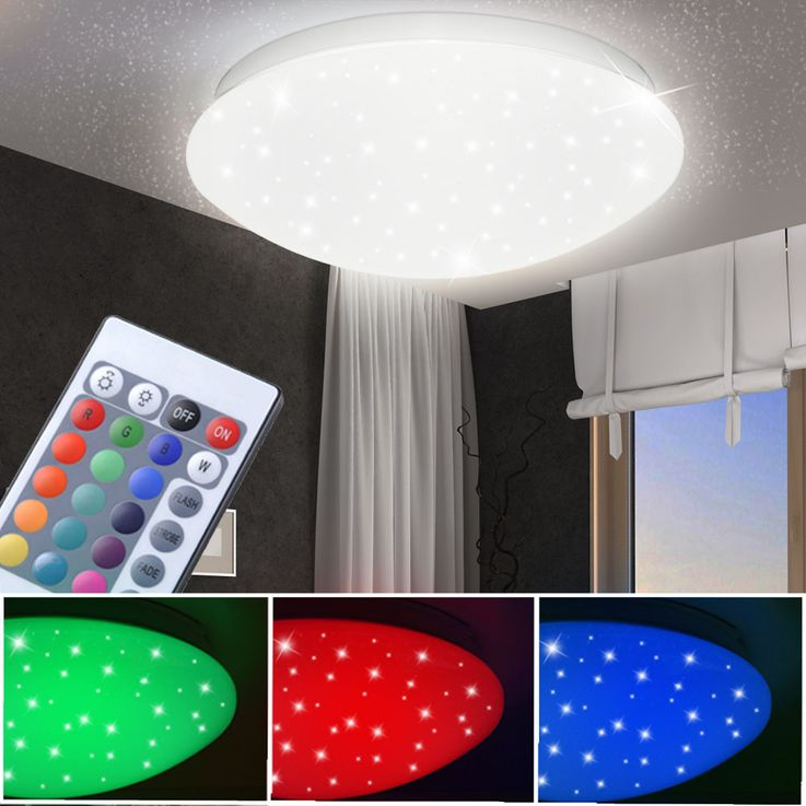 RGB LED ceiling lamp sleep room stars sky effect lamp REMOTE CONTROL  Globo 48363RGB – Bild 2