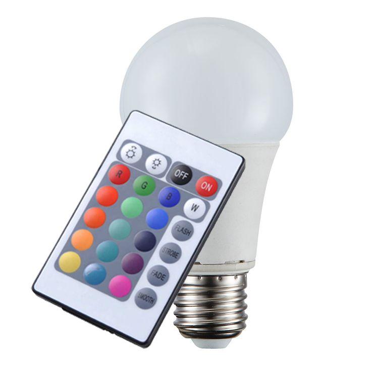 RGB LED 10 W Leuchtmittel E27 Birne Dimmer Lampe 810 Lumen 3000 K Fernbedienung Globo 106710 – Bild 3