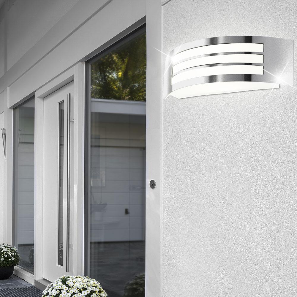 design led au en beleuchtung balkon wand leuchte energie spar lampe ip44 eek a ebay. Black Bedroom Furniture Sets. Home Design Ideas