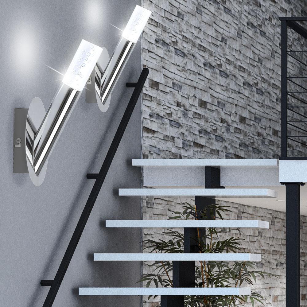 2er set led wandlampen mit luftblasen f r den wohnraum midu. Black Bedroom Furniture Sets. Home Design Ideas
