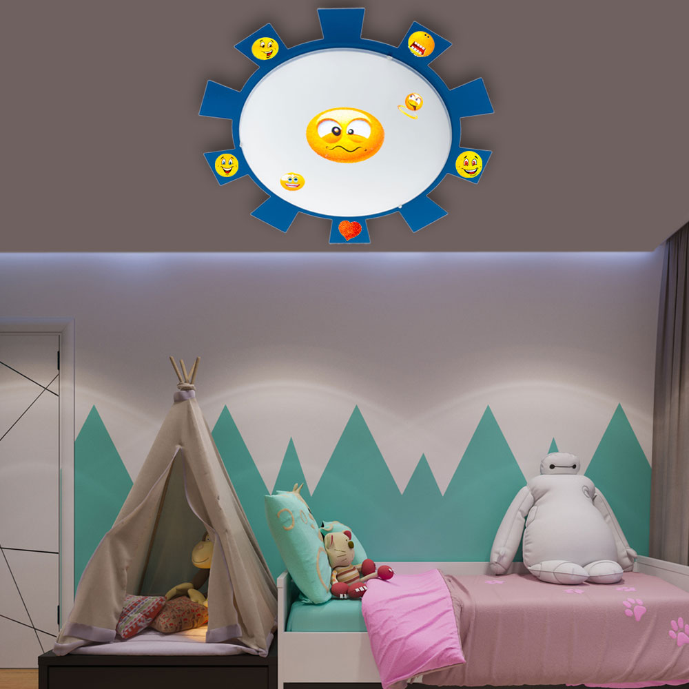 rgb led kinderzimmer wand und deckenlampe mit stickern. Black Bedroom Furniture Sets. Home Design Ideas