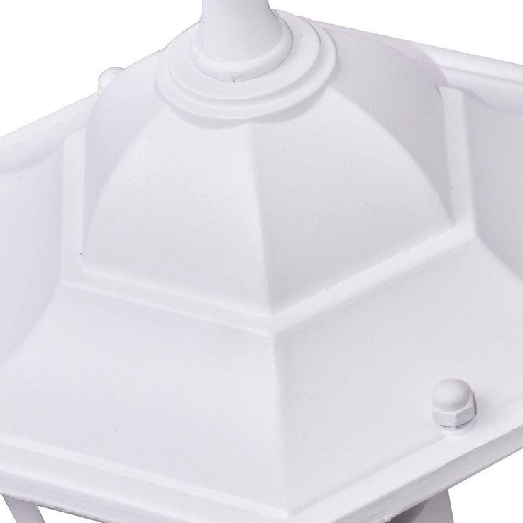 Applique luminaire mural éclairage extérieur lanterne terrasse aluminium blanc verre IP44 – Bild 6