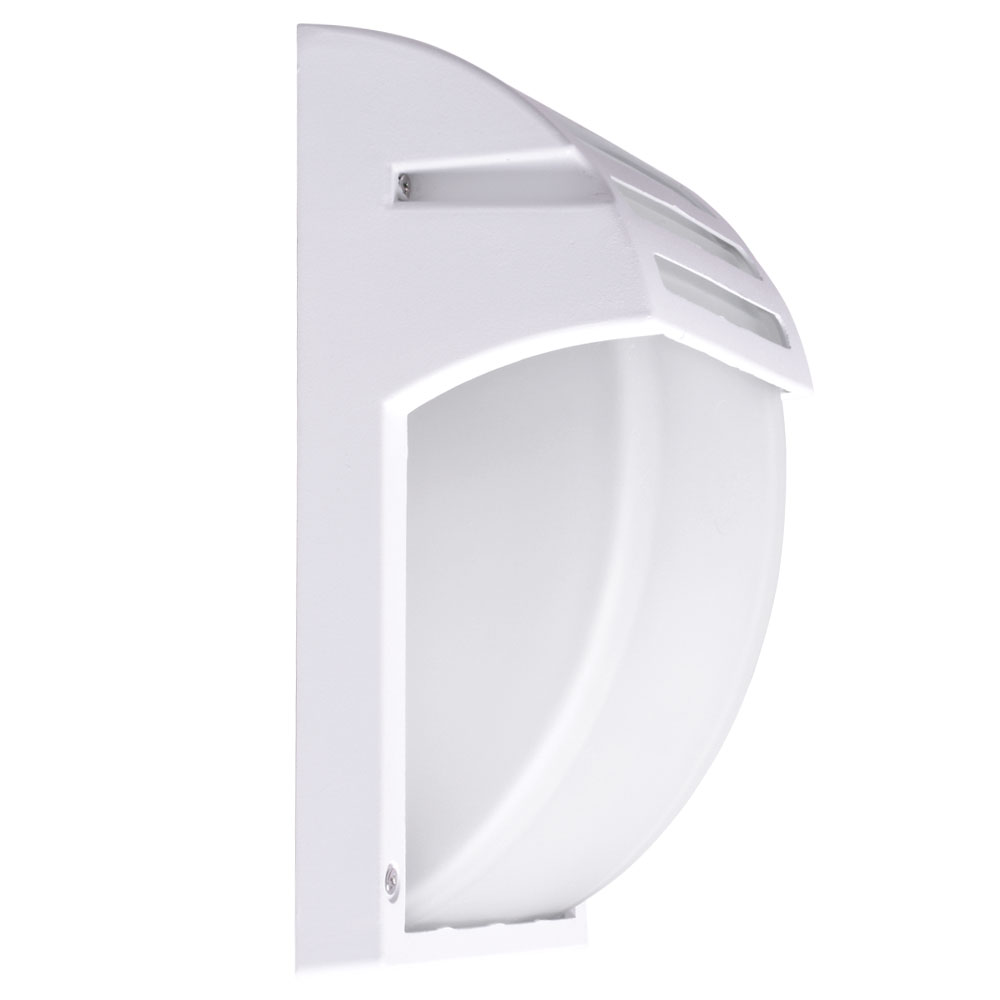 alu wand down strahler h he 24 5 cm vt 754w lampen m bel au enleuchten wandbeleuchtung down. Black Bedroom Furniture Sets. Home Design Ideas