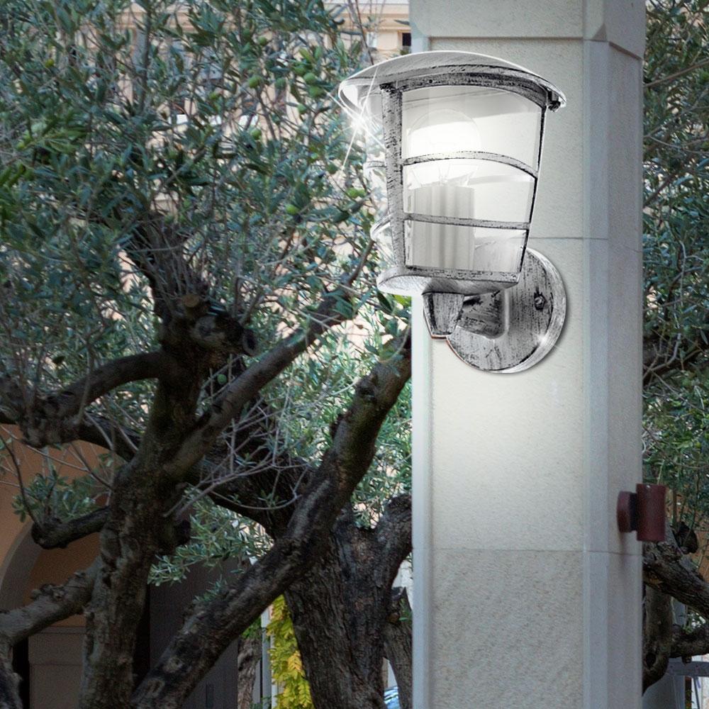 lot de 2 appliques murales anciennes lanternes clairage ext rieur lampes ip44 ebay. Black Bedroom Furniture Sets. Home Design Ideas